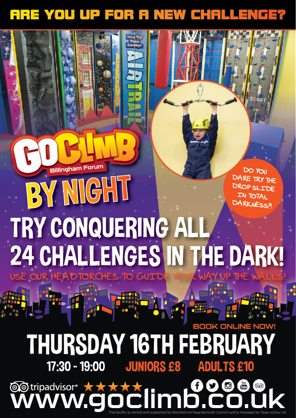 GoClimb By Night Poster WEB